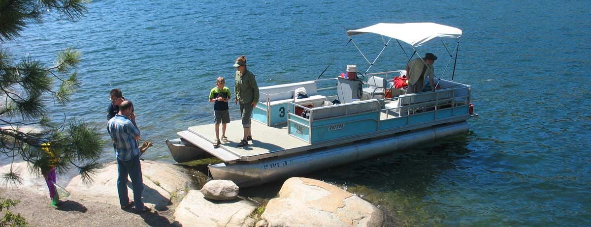Rent a Party Boat at Pinecrest Lake